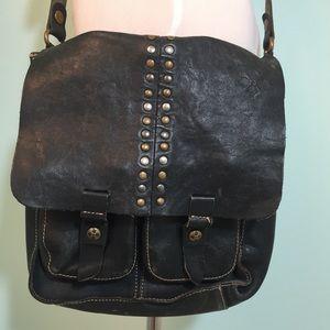 Patricia Nash Blue/Grey Leather Crossbody